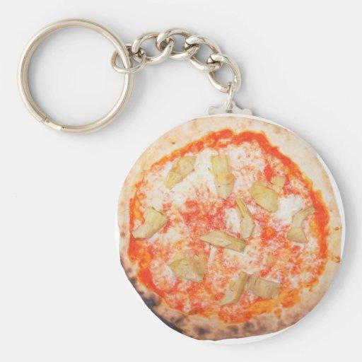 Verduras italianas de Carciofi de la pizza de la Llaveros Personalizados