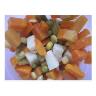 Verduras mezcladas del amor postal