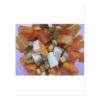 Verduras mezcladas del amor tarjeta postal