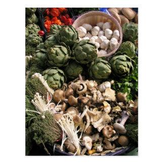Verduras mezcladas postal