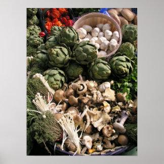 Verduras mezcladas póster