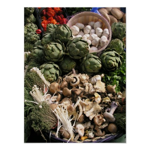 Verduras mezcladas poster