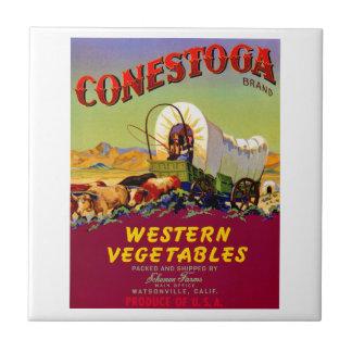 Verduras occidentales de Conestoga Azulejo Cuadrado Pequeño