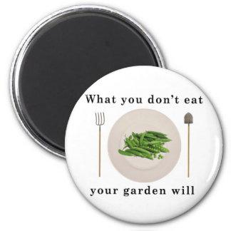 Verduras orgánicas, qué usted no come su jardín imán redondo 5 cm