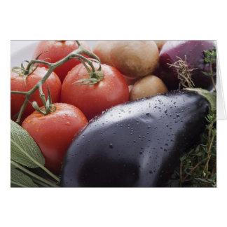 Verduras para cocinar italiano tarjeta de felicitación