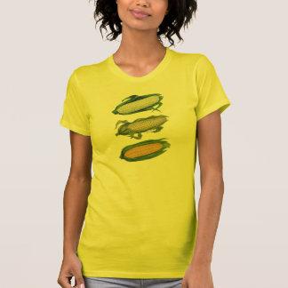 Verduras sanas de la comida del vintage, maíz t-shirt