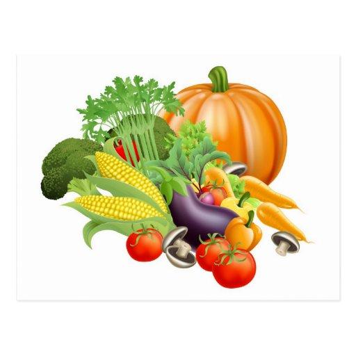 Verduras sanas del recién hecho tarjeta postal