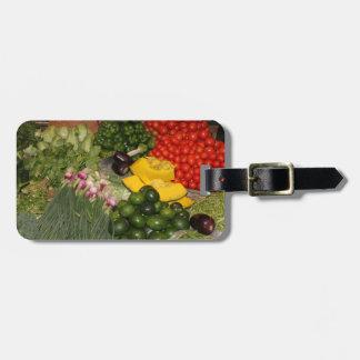 Verduras - Veggies maduros frescos Etiquetas De Equipaje