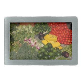 Verduras - Veggies maduros frescos Hebillas De Cinturón Rectangulares