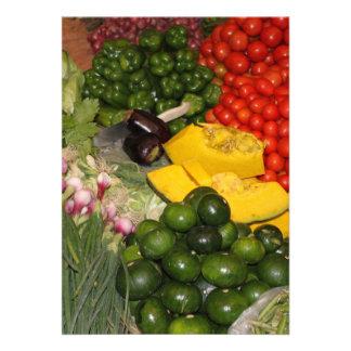 Verduras - Veggies maduros frescos Comunicado Personalizado