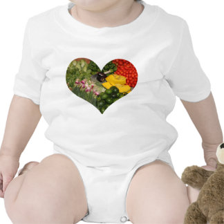 Verduras - Veggies maduros frescos Trajes De Bebé