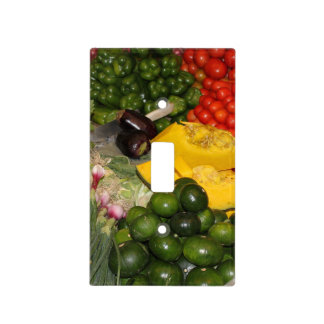 Verduras - Veggies maduros frescos Cubiertas Para Interruptor