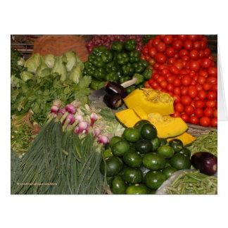 Verduras - Veggies maduros frescos Felicitaciones