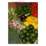 Verduras - Veggies maduros frescos Tarjetón