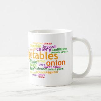 Verduras Wordle Taza De Café