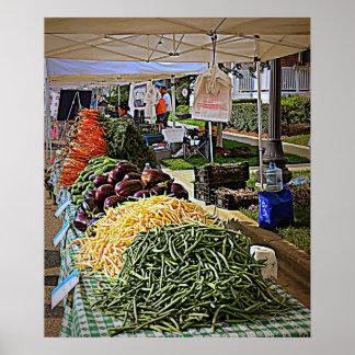 Verduras y más verduras póster