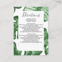 Verdure Tropical Greenery Wedding Details card
