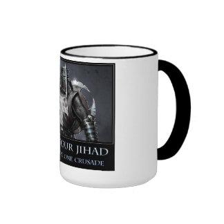 Veré su Jihad y le criaré una cruzada Tazas