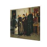 """Veredicto, """"no culpable"""", 1882 impresiones en lona estiradas"""