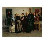 "Veredicto, ""no culpable"", 1882 tarjeta postal"
