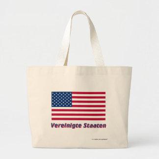 Vereinigte Staaten Flagge mit Namen Canvas Bag