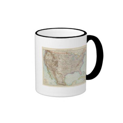 Vereinigte Staaten von Nordamerika - mapa de los E Tazas