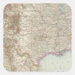 Vereinigte Staaten von Nordamerika - mapa de los Calcomanías Cuadradas Personalizadas