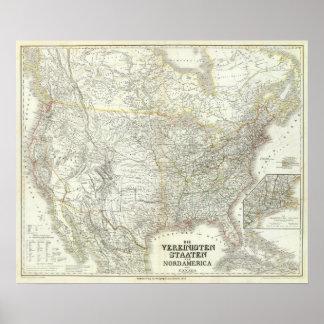 Vereinigten Staaten von Norteamérica - los E.E.U.U Póster