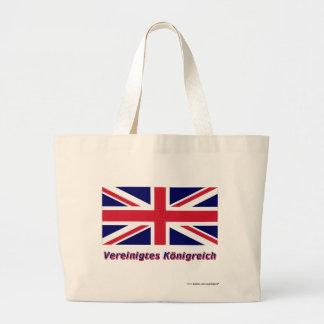 Vereinigtes Königreich Flagge mit Namen Tote Bags