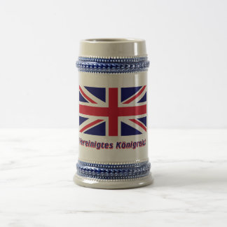 Vereinigtes Königreich Flagge mit Namen Beer Stein