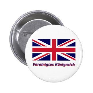 Vereinigtes Königreich Flagge mit Namen Button