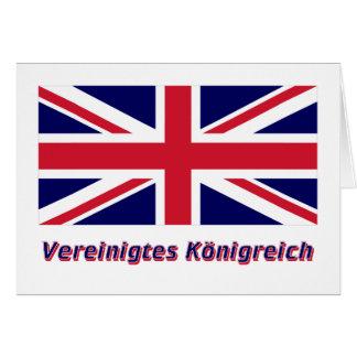 Vereinigtes Königreich Flagge mit Namen Card