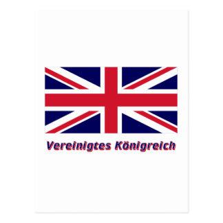 Vereinigtes Königreich Flagge mit Namen Postcard