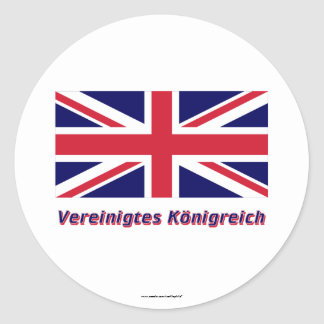 Vereinigtes Königreich Flagge mit Namen Stickers