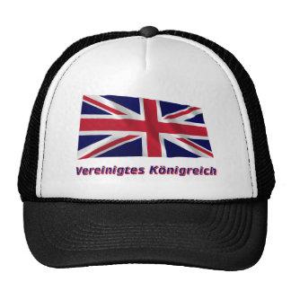 Vereinigtes Königreich Fliegende Flagge mit Namen Mesh Hats