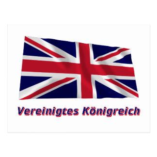 Vereinigtes Königreich Fliegende Flagge mit Namen Postcard