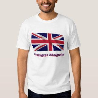 Vereinigtes Königreich Fliegende Flagge mit Namen Shirt