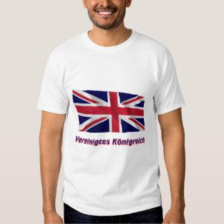 Vereinigtes Königreich Fliegende Flagge mit Namen Tee Shirt