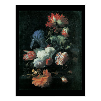 Verelst Opium Poppy and Other Flowers in a Vase Postcard
