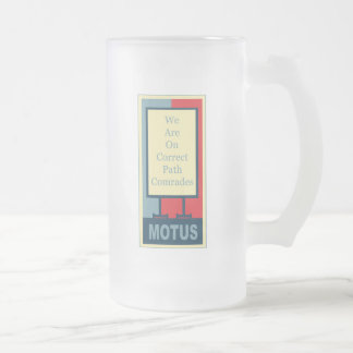 vereteno's: CORRECT PATH COMRADES Frosted Glass Beer Mug
