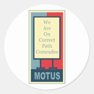 vereteno's: CORRECT PATH COMRADES Round Sticker