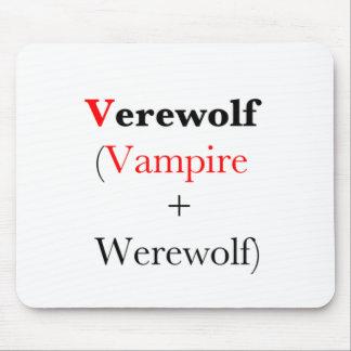 verewolf vampire werewolf mouse pad
