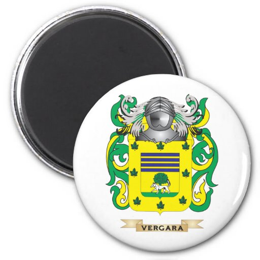 Vergara Family Crest (Coat of Arms) Refrigerator Magnet