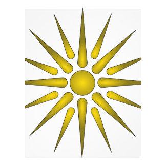 Vergina Sun Membrete Personalizado