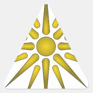 Vergina Sun Pegatina Triangular