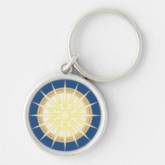 Vergina Sun Premium Round Keychain