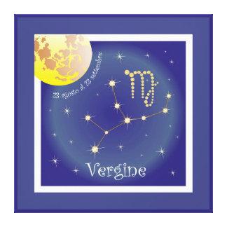 Vergine 23 agosto Al 23 settembre canvas Stretched Canvas Prints