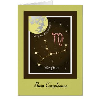 Vergine 23 agosto Al 23 settembre map Greeting Card