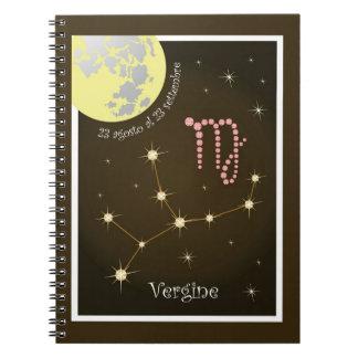 Vergine 23 agosto Al 23 settembre note booklet Note Book