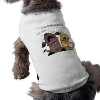 Vergüenza de griterío gritadora del perro y del ga playera sin mangas para perro